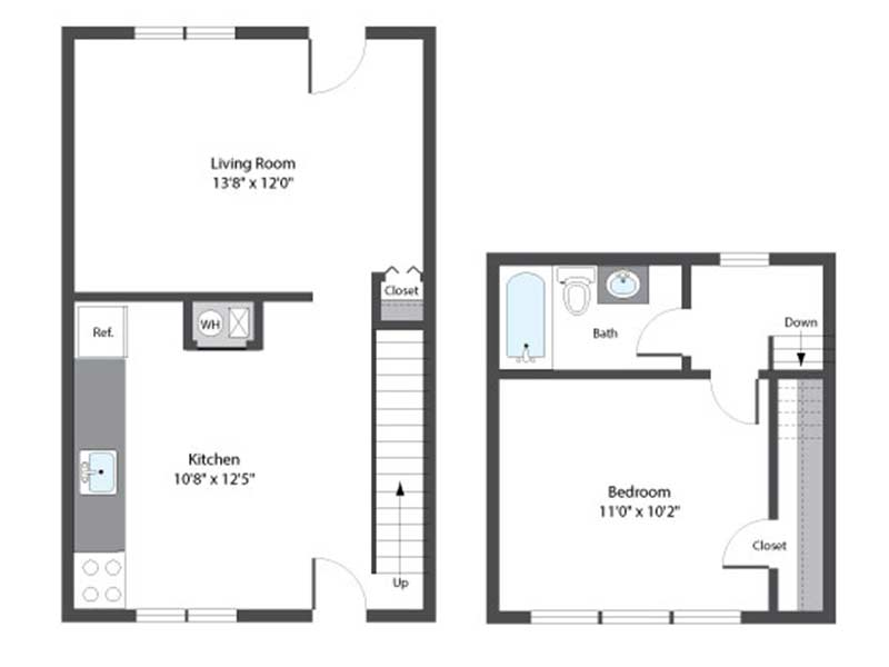 Hopkins Point 1 Bedroom 1 Bath 644 sq ft
