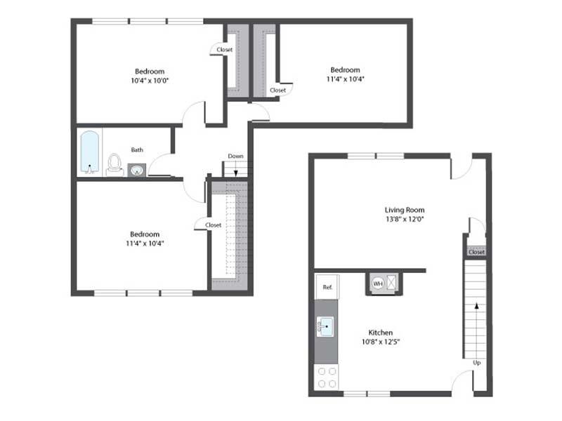 Hopkins Point 3 Bedroom 1 Bath 858 sq ft
