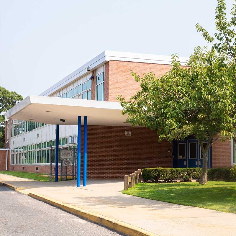 Exterior of a school building