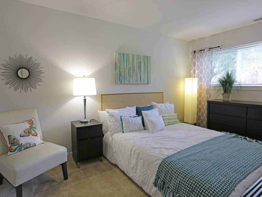 Interior bedroom at Tacony Crossing by OneWall