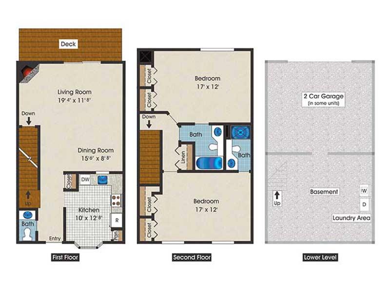 The Brooke 2 Bedroom 2.5 Bath 1400 sq ft