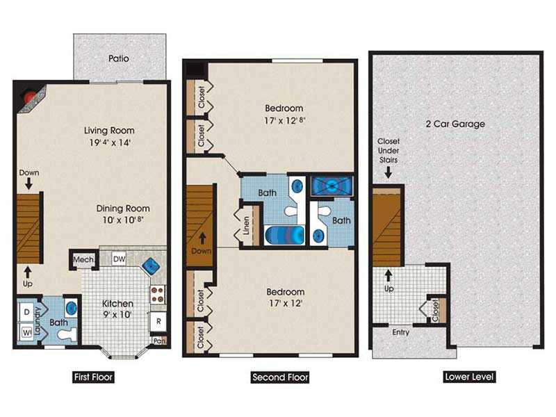 The Brooke 2 Bedroom 2.5 Bath 1470 sq ft