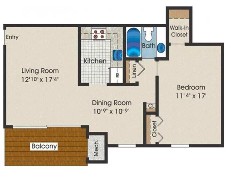 Trexler Park 1 Bedroom 1 Bath 790 sq ft