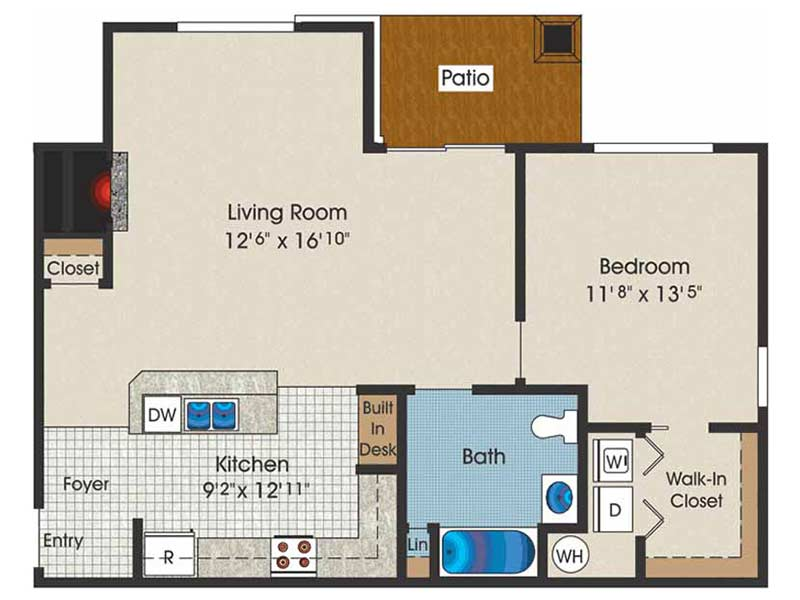 Trexler Park 1 Bedroom 1 Bath 811 sq ft