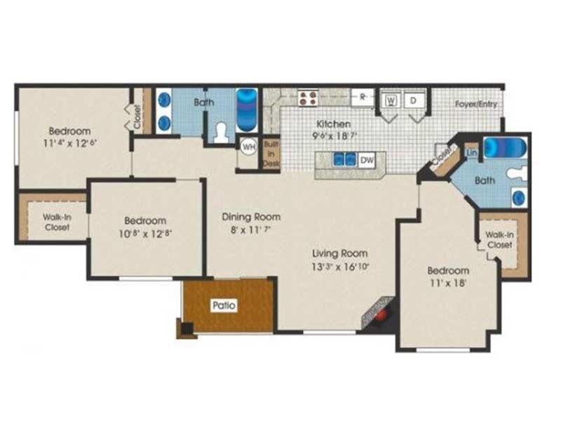 Trexler Park 3 Bedroom 2 Bath 1322 sq ft
