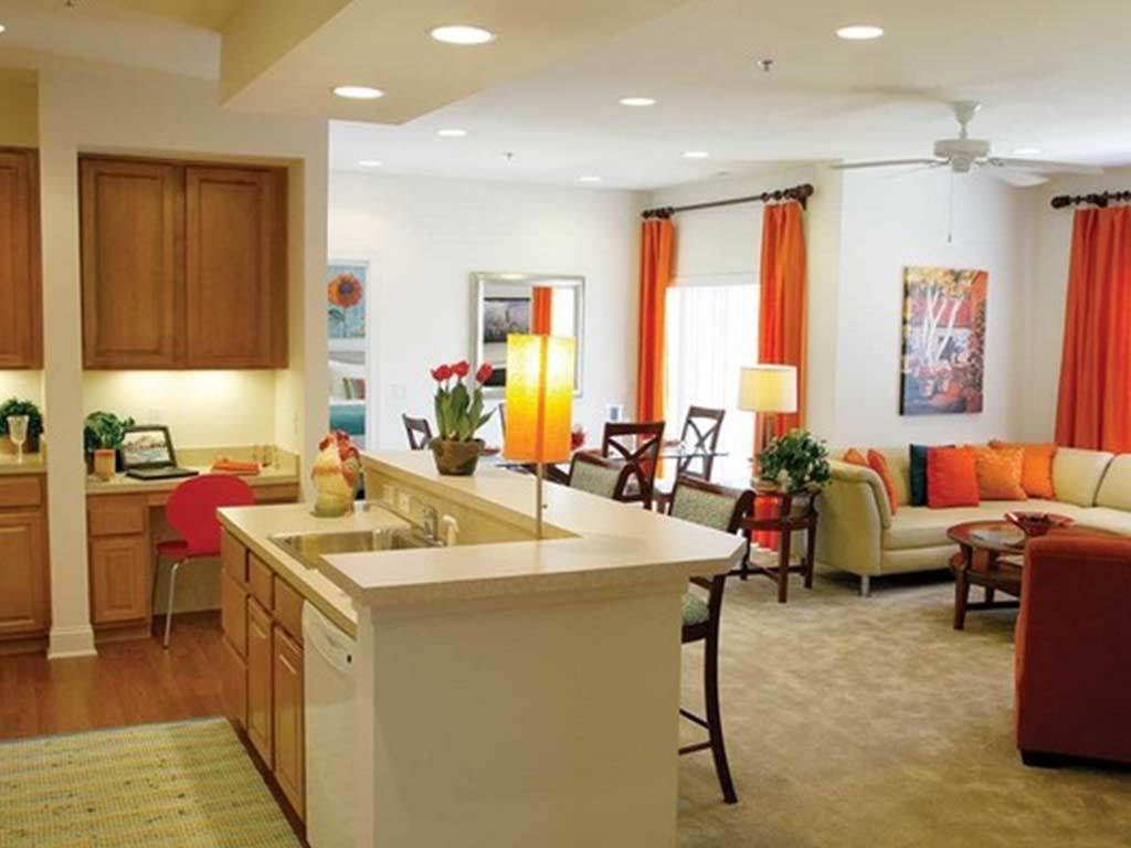 Interior kitchen and living room at Trexler Park by OneWall