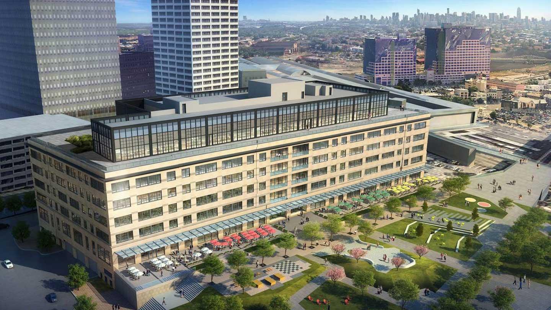 Rendering of proposed High Line in Newark, NJ