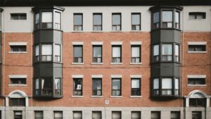 Detail of a city multifamily property