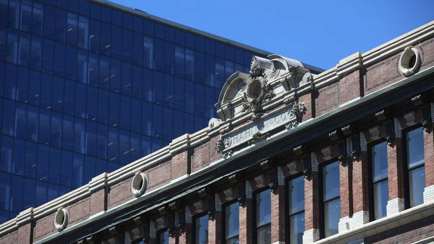 Detail of Hahne & Co. Building rooftop