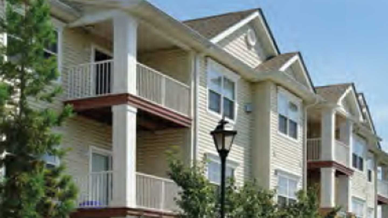 Exterior of apartment property