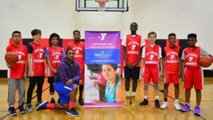 Photo of East Orange Hawks basketball team at the East Orange YMCA
