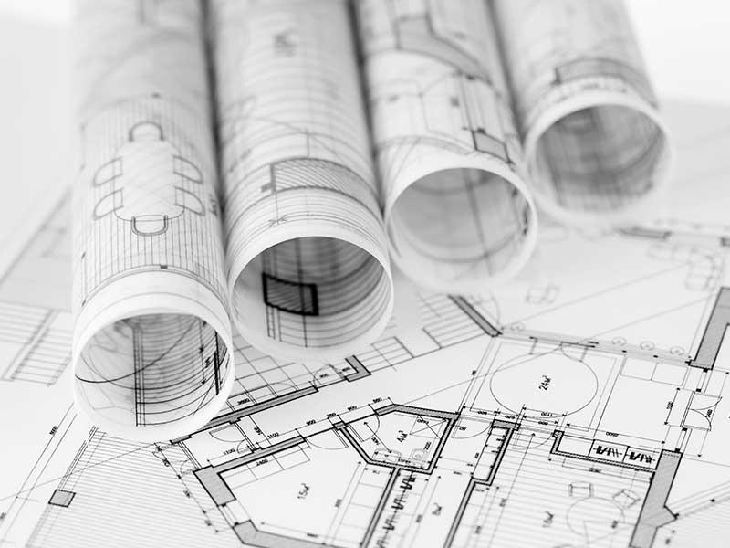 Blueprints of property floor plans