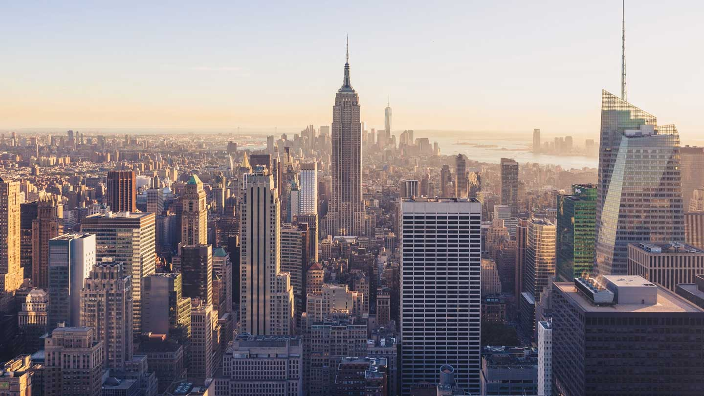 New York City skyline showing the Empire State Building